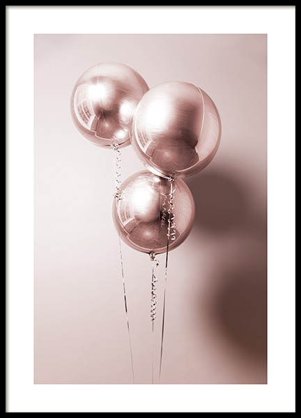 Rosé Balloons Poster