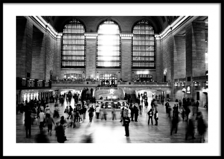 Grand Central Terminal NYC Poster i gruppen Posters  / Fotokonst hos Desenio AB (11953)