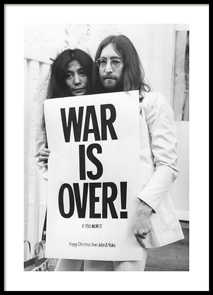 War is Over Poster i gruppen Posters  / Iconic photos hos Desenio AB (11970)