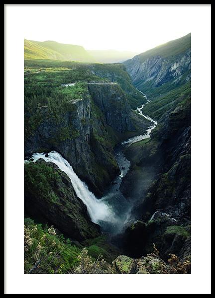 Vøringfossen Waterfall Poster