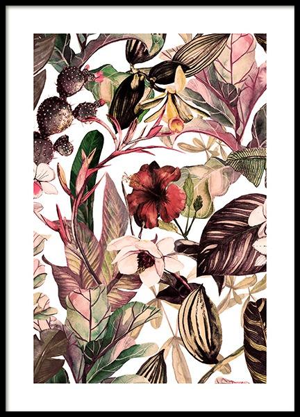 Botanical Pattern No2 Poster
