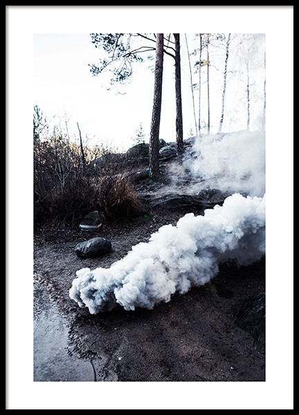 Smoke by the Shore Poster i gruppen Posters  hos Desenio AB (12199)