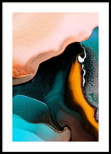 Abstract Inks No2 Poster