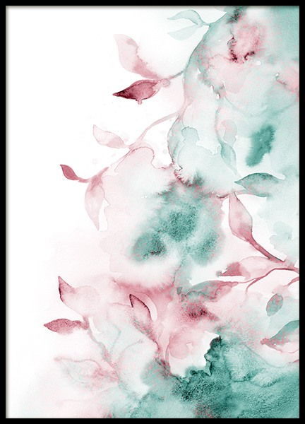 Watercolor Flower Wall Poster