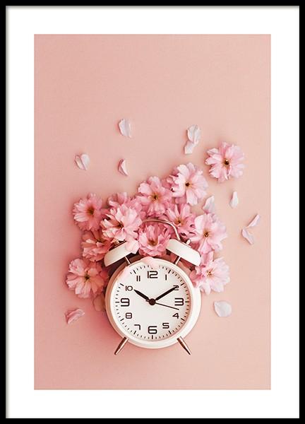 Flower O'clock Poster