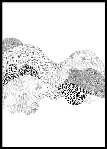 Dotted Waves No2 Poster