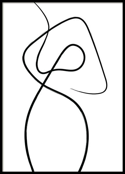 Line Impression No1 Poster