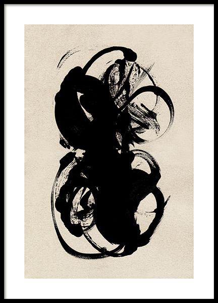 Black Paint Poster