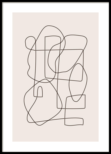 Abstract Lines Poster