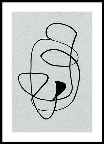 Black Swirls Poster