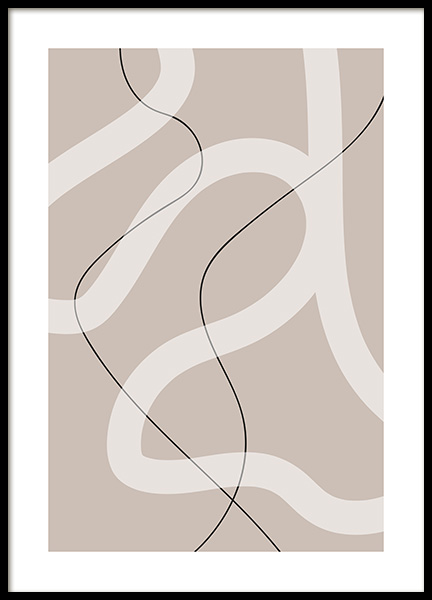 Thin and Bold Lines Poster