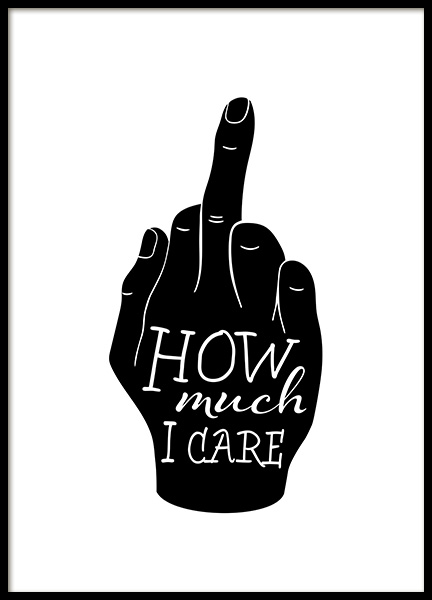How Much I Care Poster