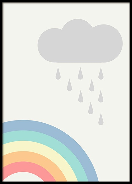 Rainbows and Clouds Poster i gruppen Posters  / Barntavlor hos Desenio AB (12687)