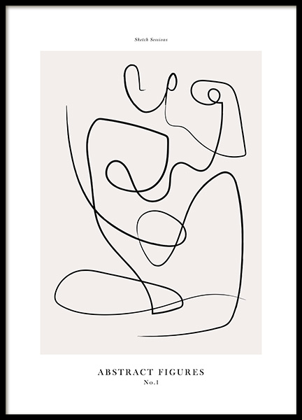 Abstract Figures No1 Poster i gruppen Posters  / Konstmotiv hos Desenio AB (12694)