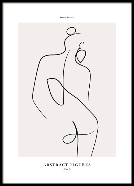 Abstract Figures No3 Poster i gruppen Posters  / Konstmotiv hos Desenio AB (12696)