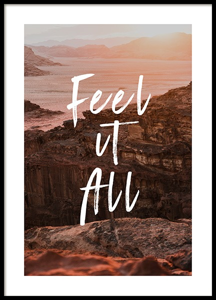 Feel It All Poster i gruppen Posters  / Naturmotiv hos Desenio AB (12788)