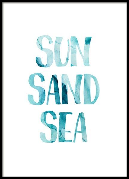 Sun Sand Sea Poster
