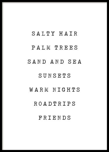 Salty Hair Poster