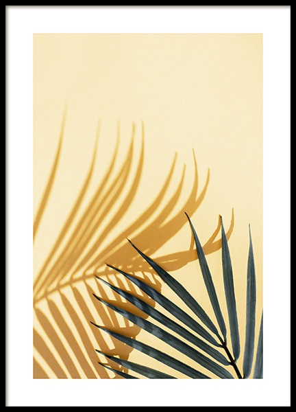 Palm Shadow Yellow Poster i gruppen Posters  / Fotokonst hos Desenio AB (12862)