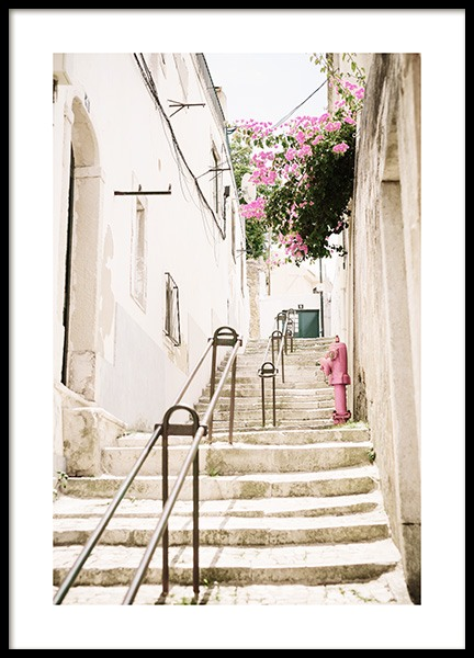 Lisbon Stairs Poster