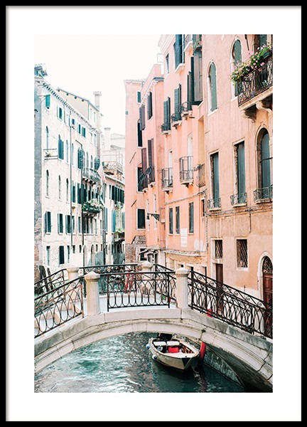 Canal in Venice Poster i gruppen Posters  / Fotokonst hos Desenio AB (12932)