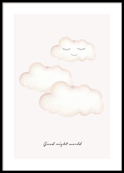 Good Night World Poster i gruppen Posters  / Barntavlor hos Desenio AB (13074)