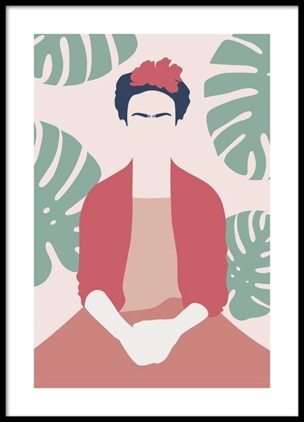Frida Kahlo Abstract Poster