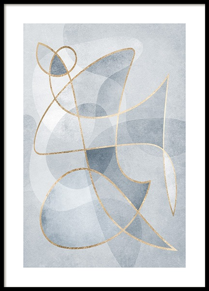 Abstract Blues No1 Poster i gruppen Posters  / Konststilar hos Desenio AB (13120)
