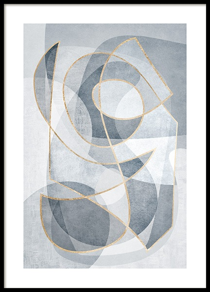 Abstract Blues No2 Poster i gruppen Posters  / Konststilar hos Desenio AB (13121)