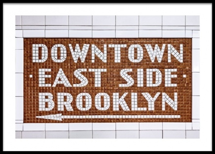 Downtown East Side Sign Poster i gruppen Posters  / Texttavlor hos Desenio AB (13141)