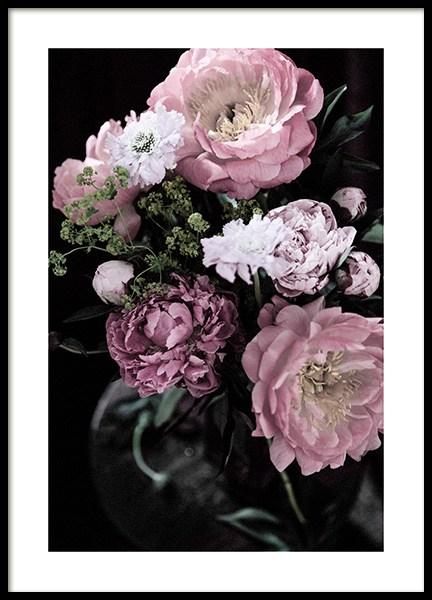 Dark Flowers No2 Poster
