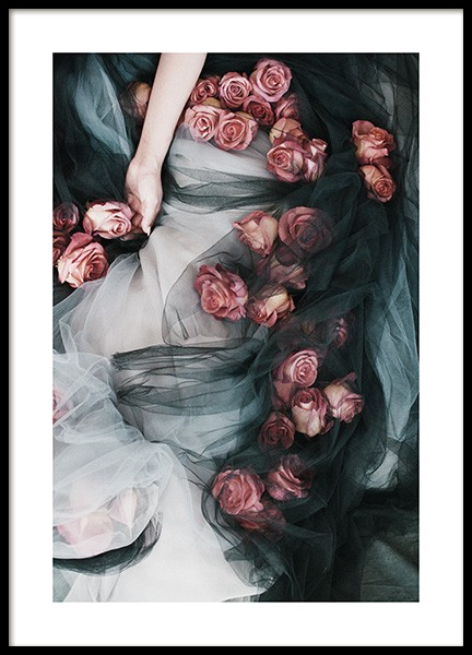 Roses and Tulle Poster