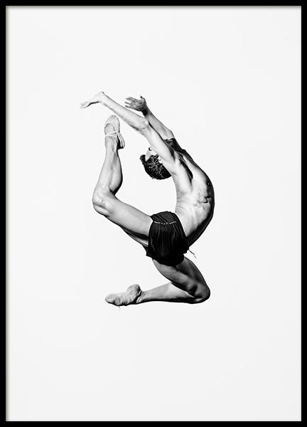 Dance More Ballet Poster