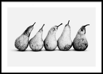 Pears in a Row Poster