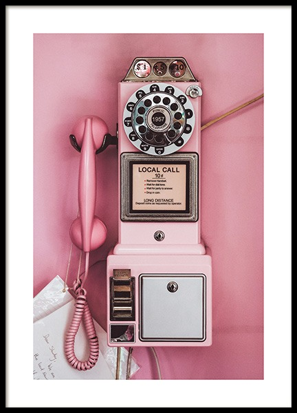 Pink Pay Phone Poster i gruppen Posters / Retro & vintage hos Desenio AB (13404)