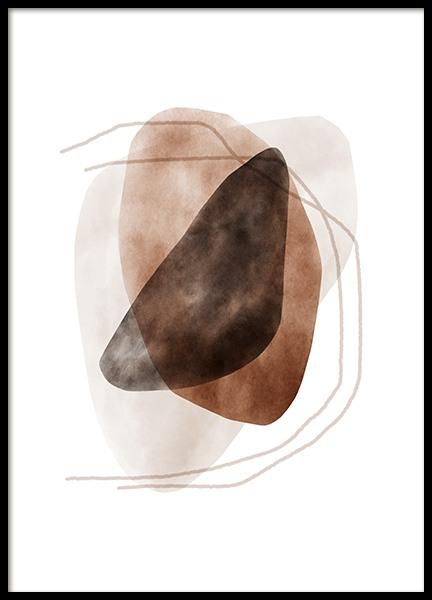 Watercolor Shapes No2 Poster