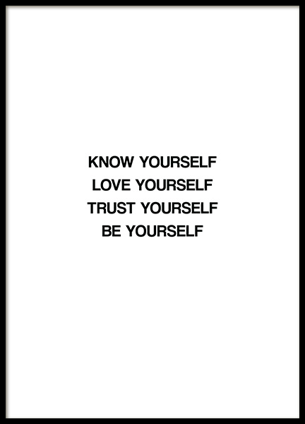 Know Yourself Poster i gruppen  hos Desenio AB (13463)