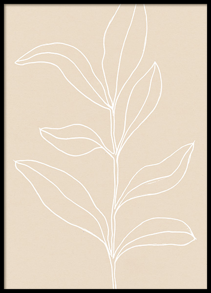 Painted Leaves No3 Poster