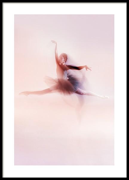 Blurred Dancer Poster