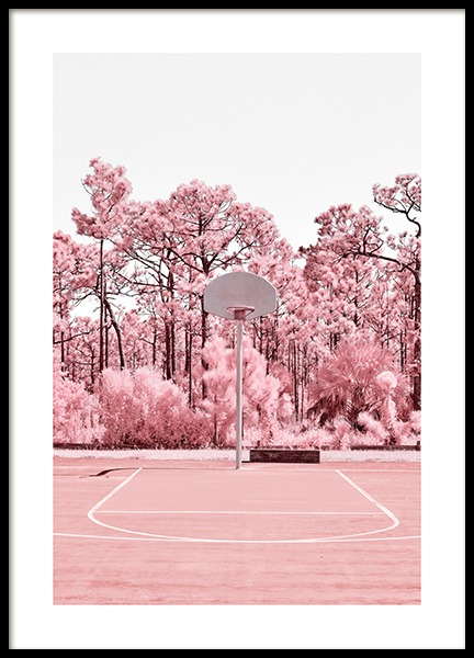 Blooming Basket Court Poster