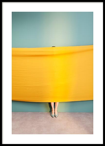 Yellow Fabric Poster