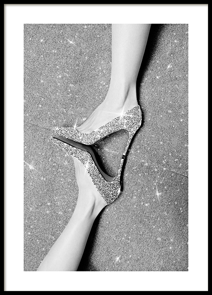 Glitter Shoes Poster i gruppen Posters  / Fashion  hos Desenio AB (13568)