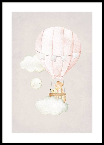 Hot Air Balloon No2 Poster i gruppen  hos Desenio AB (13716)