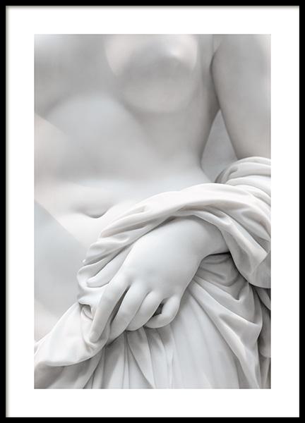 White Statue No3 Poster