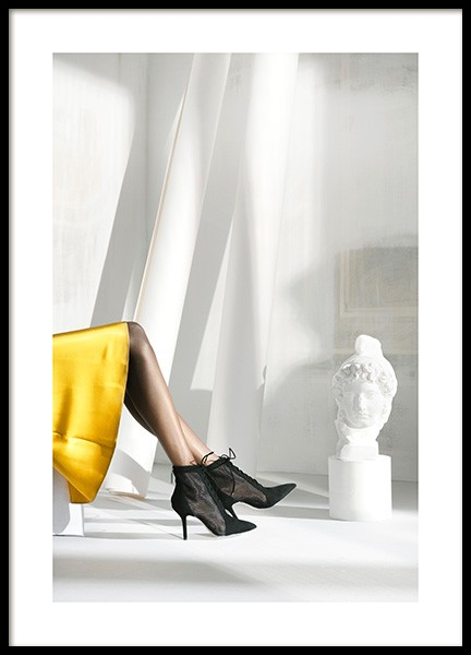 Yellow Skirt Poster