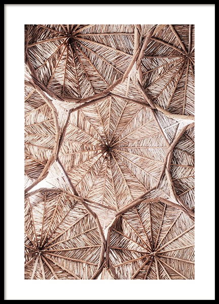 Organic Roof Pattern Poster