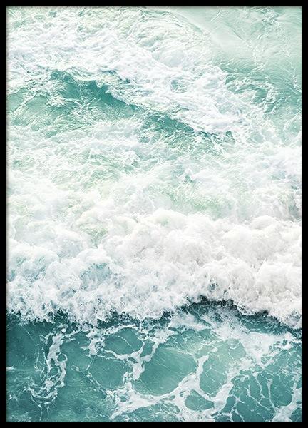 Foamy Ocean Poster