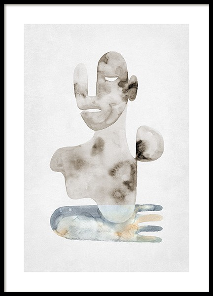 Watercolor Figures No1 Poster
