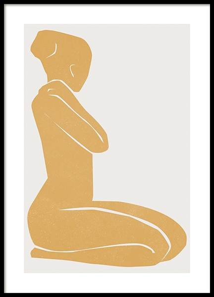 Cadmium Yellow Figure Poster