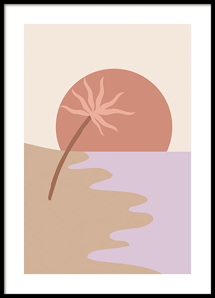 Palm by the Bay Poster i gruppen Posters  / Grafiskt hos Desenio AB (14565)
